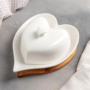 "Маслёнка ""Сердце"" на подставке"