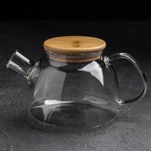 Чайник заварочный стеклянный 800 мл с ситом