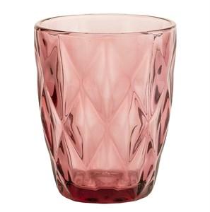 """Стакан """"Клетка"""" 240 мл розовый из цветного стекла"""