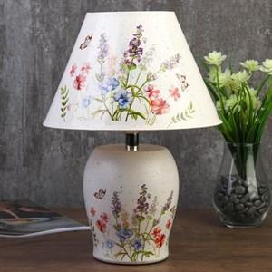 """Лампа настольная """"Цветочная поляна"""" 34 см"""