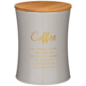 """Банка для хранения """"Кофе"""" 1100 мл металлическая серая"""