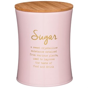 """Банка для хранения """"Сахар"""" 1100 мл металлическая розовая"""