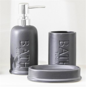 Набор для ванной комнаты серый