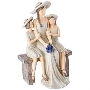 """Статуэтка """"Мать с детьми на скамейке"""""""
