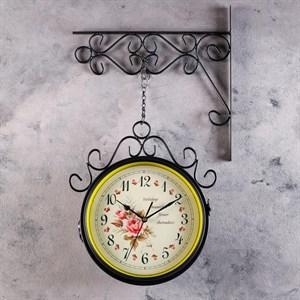 """Часы настенные двухсторонние """"Цветы"""""""