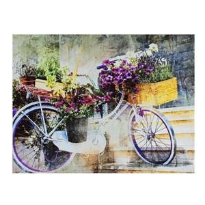 """Постер на холсте """"Цветочный велосипед"""" 40х30 см"""