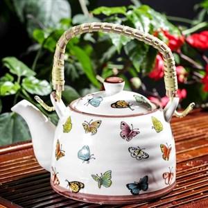 "Чайник заварочный ""Бабочки"" 500 мл с ситом"