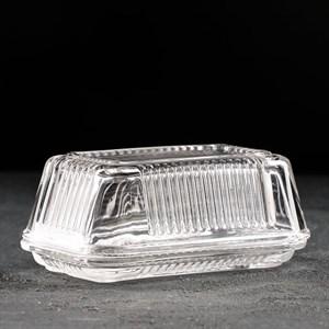 Масленка стеклянная 17х10 см