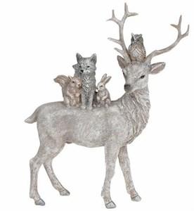 """Статуэтка """"Лесные звери"""" 21 см серебристая"""