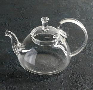 Чайник заварочный стеклянный 600 мл с ситом