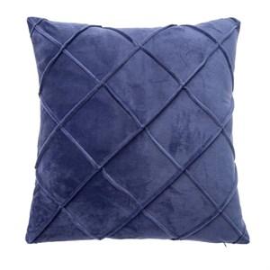Наволочка декоративная стеганая синяя 45х45 см
