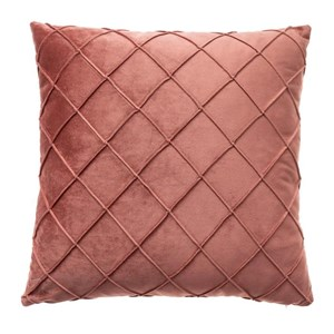Наволочка декоративная стеганая розовая 45х45 см