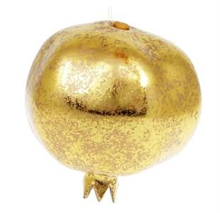 """Елочная игрушка """"Гранат"""" золотистый"""