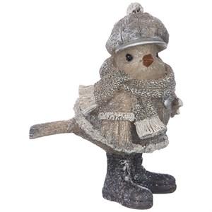 """Статуэтка """"Воробей в шарфе и шапке"""""""