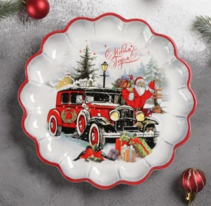 """Блюдо """"Дед Мороз спешит на праздник"""" 20 см"""