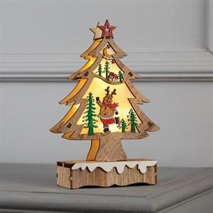 Декоративная елка с подсветкой 20 см