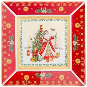 """Блюдо """"Дед Мороз"""" 22 см в подарочной упаковке"""