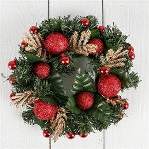 Венок новогодний декоративный 20 см
