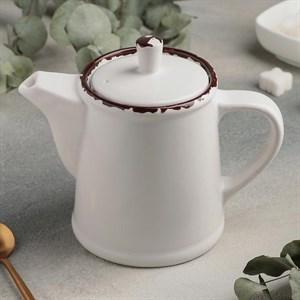 Чайник керамический 500 мл белый