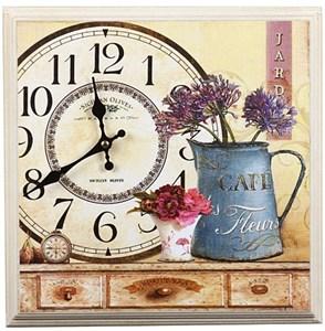 """Часы-панно в раме """"Дом цветов"""""""