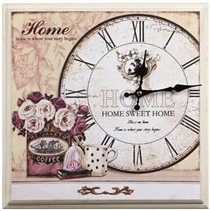 """Часы-панно в раме """"Дом, милый дом"""""""