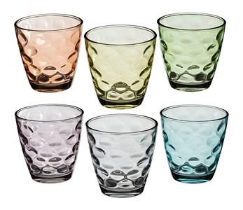 Набор из шести цветных стаканов
