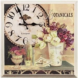 """Часы-панно в раме """"Ботаника"""""""