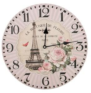 """Часы настенные """"Цветы Парижа"""""""