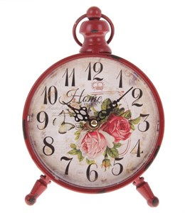 """Часы настольные """"Красные розы"""""""