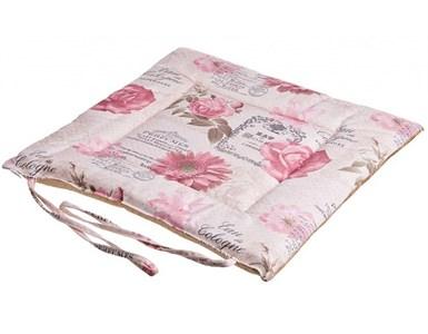 """Подушка на стул """"Цветы"""" розовая"""