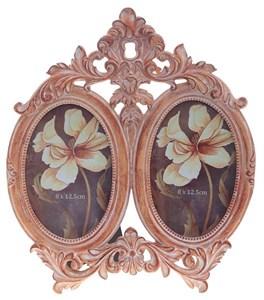 """Фоторамка на две фотографии """"Бежевые розы"""" 8х12,5 см"""
