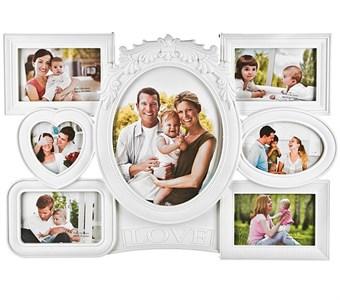 "Фоторамка на семь фотографий ""Любимая семья"" 10х15, 25х20 см"