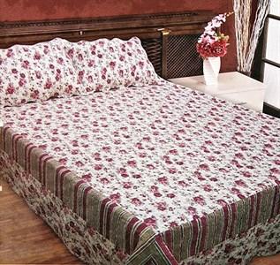 """Набор """"Красные розы"""": покрывало 230х250 см + 2 наволочки 50х70 см"""