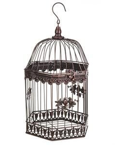 """Клетка многоугольная большая коричневая """"Птицы"""""""