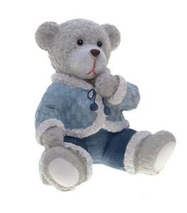"""Статуэтка """"Медвежонок сидящий серый"""""""