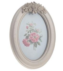 """Фоторамка овальная """"Серебристые розы"""", 10х15 см"""