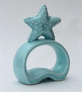 """Кольцо для салфеток керамическое """"Морская звезда"""""""