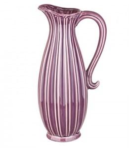 Кувшин керамический розовый высокий