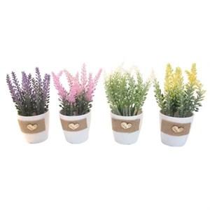 Цветы искусственные в кашпо в ассортименте, цена за 1 шт