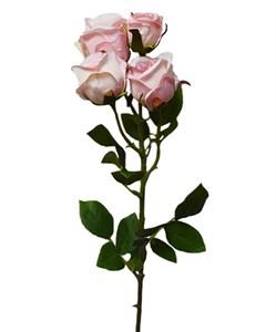 """Искусственный цветок """"Роза"""" розовая"""