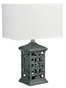 Лампа настольная керамическая резная