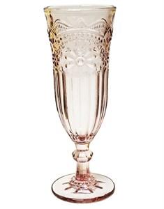 """Бокал для шампанского """"Версаль"""" розовый 200 мл из цветного стекла"""