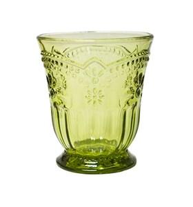 """Стакан """"Версаль"""" зеленый 250 мл из цветного стекла"""