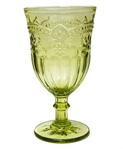 """Бокал """"Версаль"""" зеленый 300 мл из цветного стекла"""