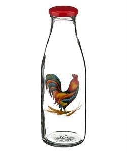 "Бутылка стеклянная ""Петушок"" с крышкой 500 мл"