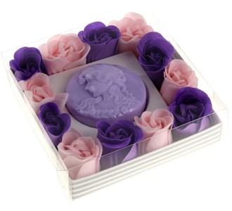 """Подарочный набор """"Лавандовая романтика"""": мыло 60 гр, мыльные лепестки"""