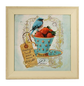 "Картина в раме ""Натюрморт с ягодами"""
