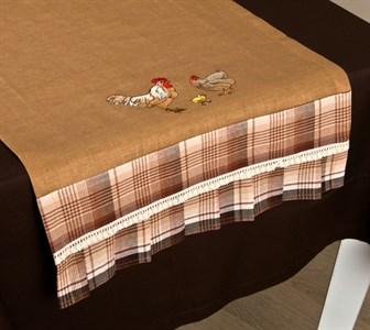 "Дорожка на стол ""Куриное семейство"" 42х82 см"