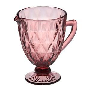 """Кувшин стеклянный """"Клетка"""" розовый"""