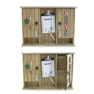 Ключница с двумя ящиками и блокнотом для заметок